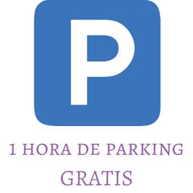 1 hora de parking gratis